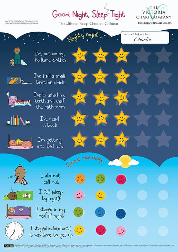 Good Night, Sleep Tight Reward Chart