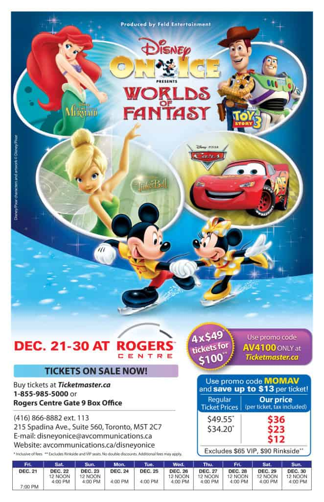 Disney On Ice Worlds of Fantasy Flyer