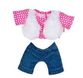 Build A Bear Smallfrys® Pink Faux Fur Vest Outfit 2 pc.