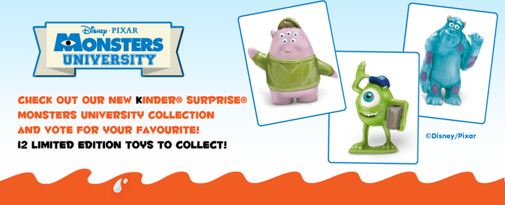 Kinder Canada Monsters University