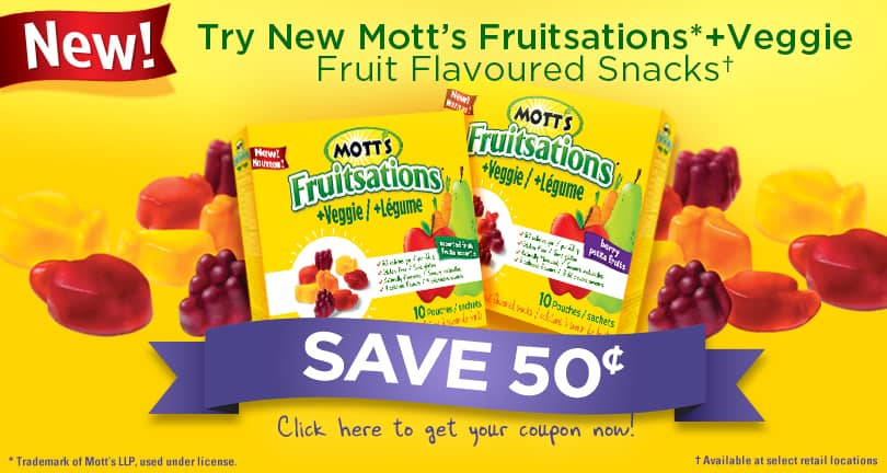 Mott's Fruitsations + Veggie Coupon