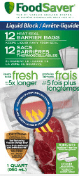 FoodSaver Liquid Block Barrier Bags