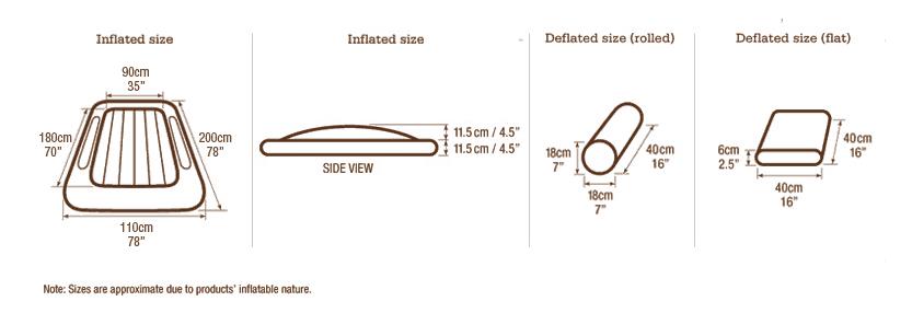 Indoor Tuckaire Kids Travel Bed Measurements