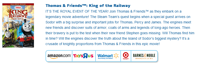 Thomas & Friends Available At