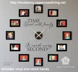 Uppercase Living Family Clock