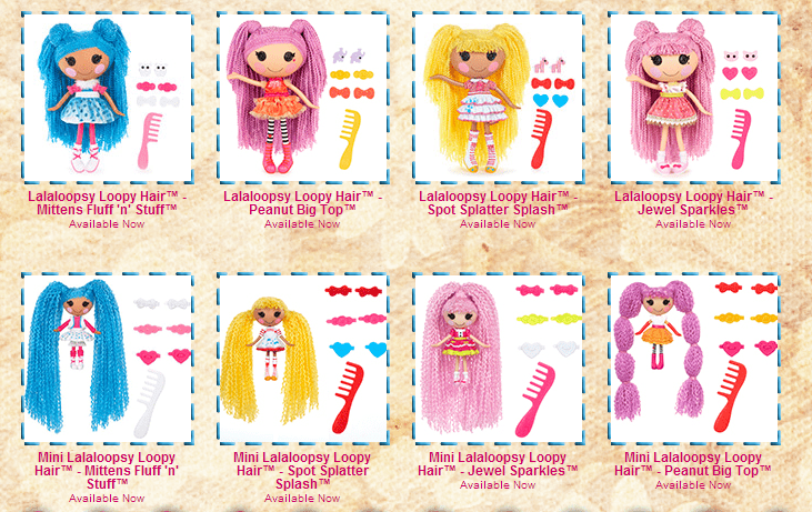 Lalaloopsy Loopy Hair Collection