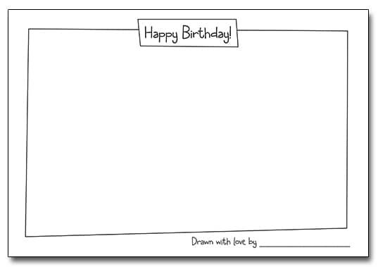 Draw Your Own Birthday Card