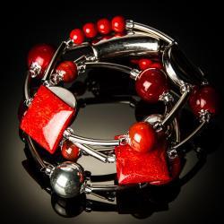 Jinja Red Twist Bracelet