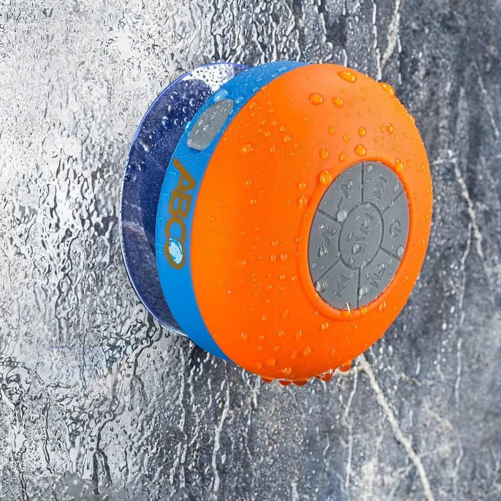 Abco Tech Water Resistant Wireless FM Radio Bluetooth Shower Speaker
