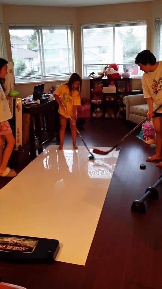Hockey in the front room