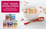 Free inside. Get your Kellogg s cereal and milk spoon straw.