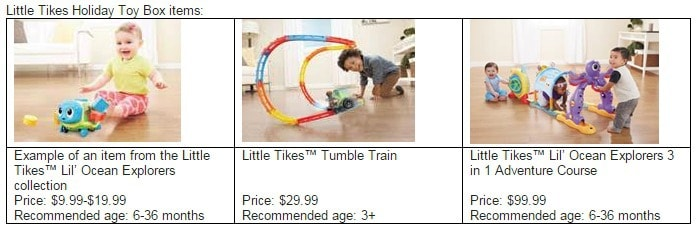 Little Tikes Holiday Toy Box