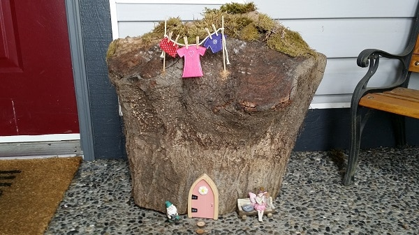 Fairy House in progress