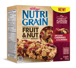 Nutri Grain Orchard Cherries and Almond