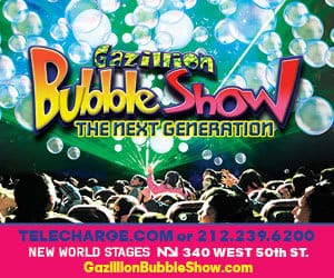 Gazillion Bubble Show The Next Generation NYC Giveaway