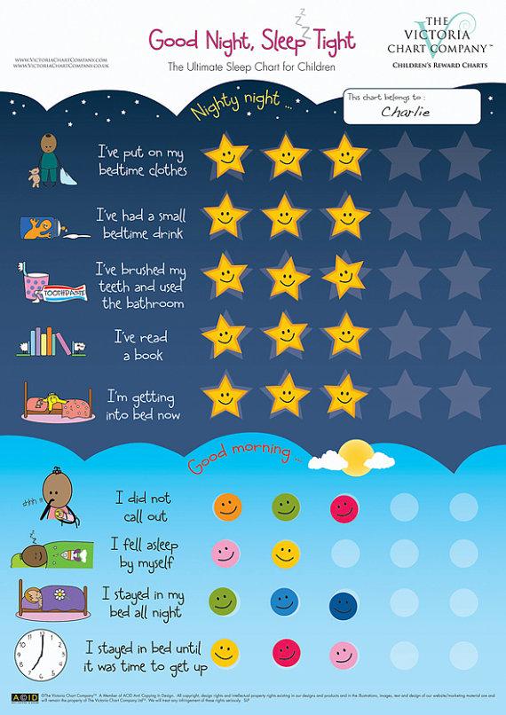 Good Night, Sleep Tight Reward Chart