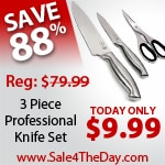 88% OFF Schulte-Ufer 3pc Stainless Steel Knife Set