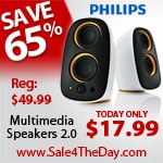 65% Off Philips Multimedia Speakers 2.0