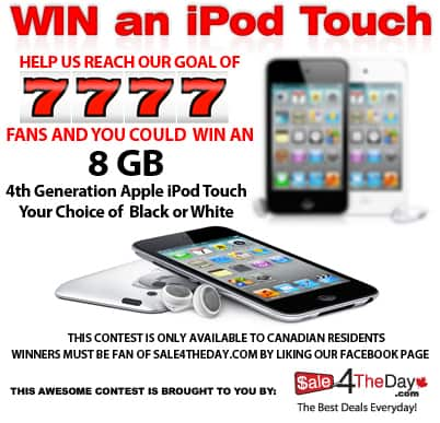 Sale 4 The Day iPod Touch Giveaway