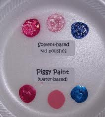 Solvent Based nail polish VS Piggy Paint nail polish.
