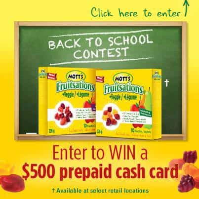 Mott's Back to School Contest