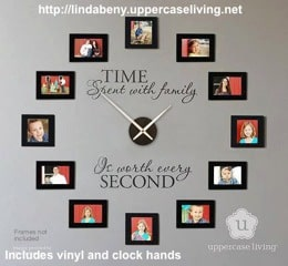 Uppercase Living Family Clock