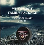 Vancouver Giants White Spot Family Package
