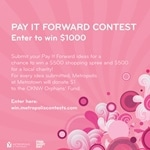 Pay it Forward Metropolis Contest & Giveaway
