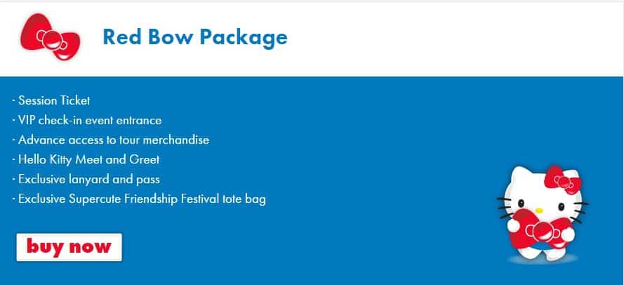 Red Bow VIP Packages at Sanrio