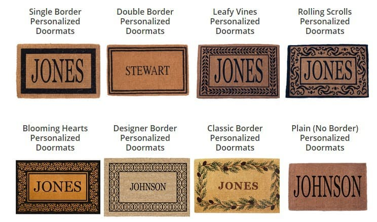 Personalized Doormats   Personalized Mats   Canada Mats