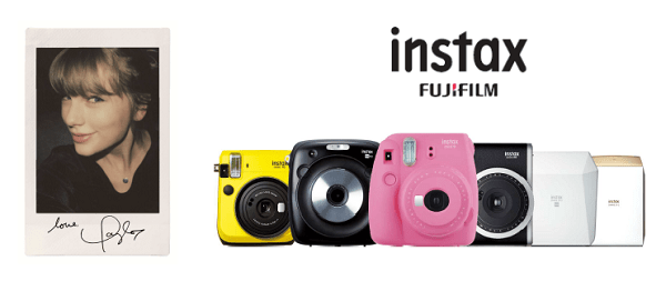 Fujifilm Announces Taylor Swift as a Global Partner for Instax Series Cameras